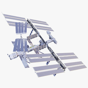 international space station 3D