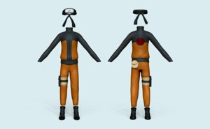 3D model character costume - outfit
