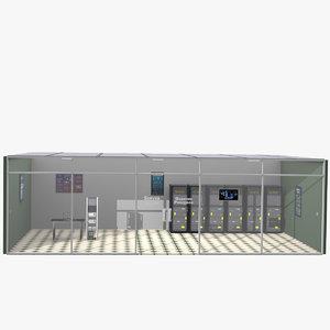 server room quantum processor 3D model
