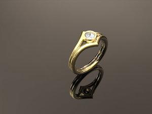 ring bezel size 6 3D model
