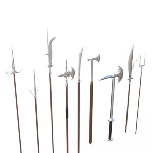 3D model polearms