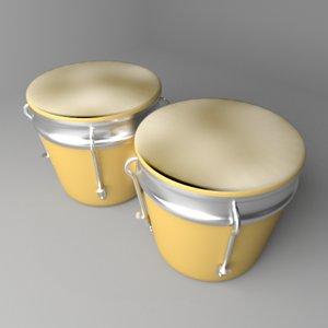 3D bongo drum