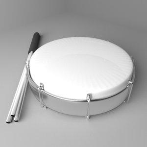 tamborin drum 3D model