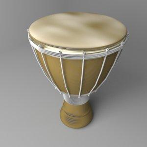 djembe drum 3D