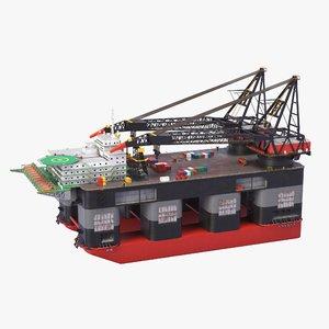 3D deepwater construction vehicle