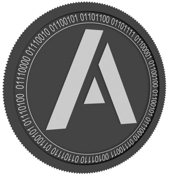 3D model aeroza black coin