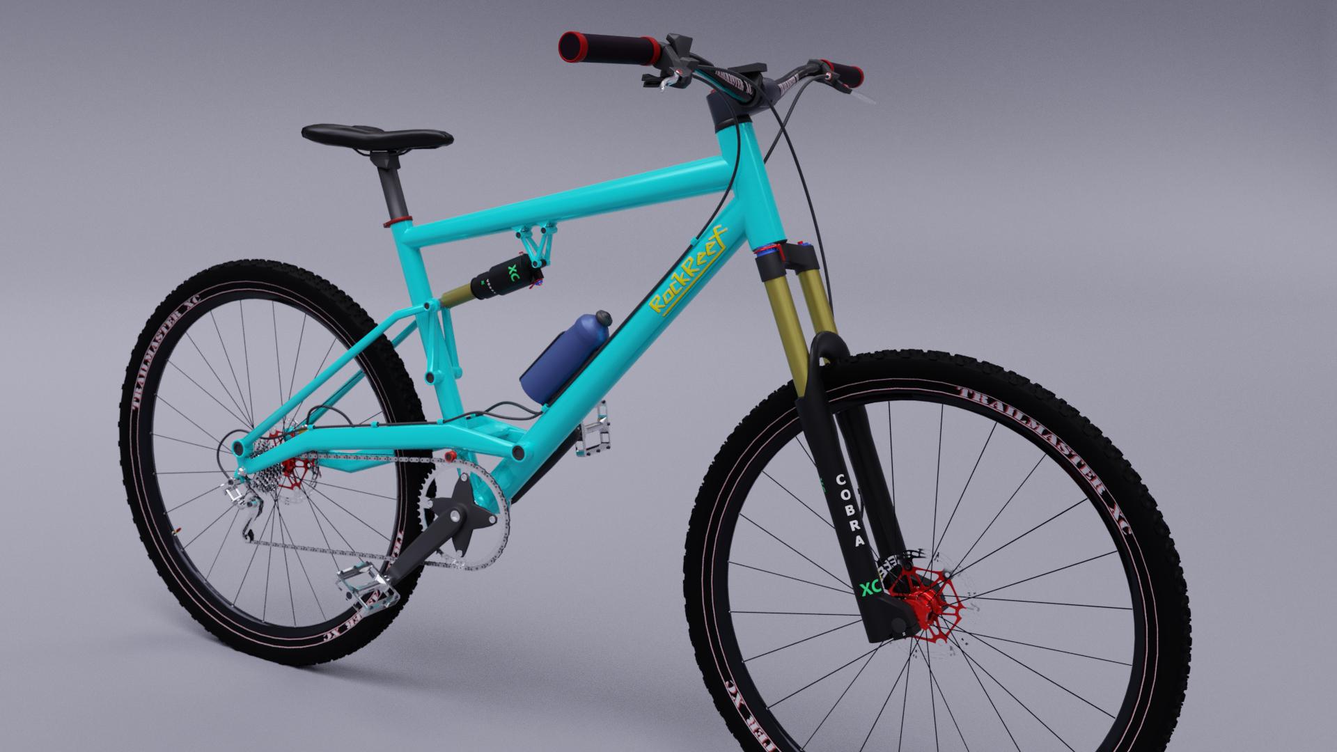mtb suspension bike 3D model