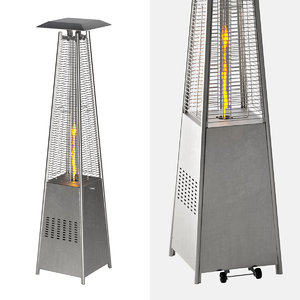 3D modern patio heater pyramid model