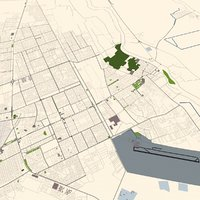 Najaf City of Iraq 3d Model
