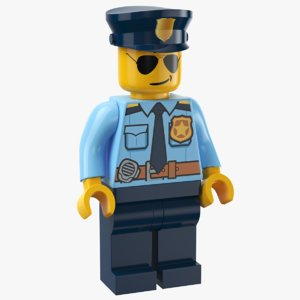 3D model real lego man