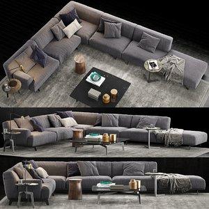 poliform tribeca sofa 2 3D model