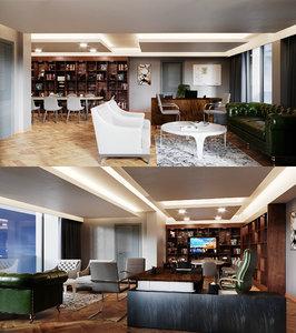 3D office general manager model