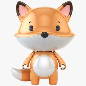 3D model fox toy