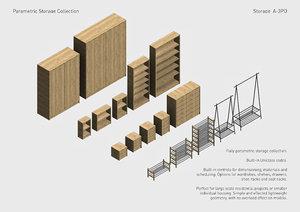 3D parametric storage