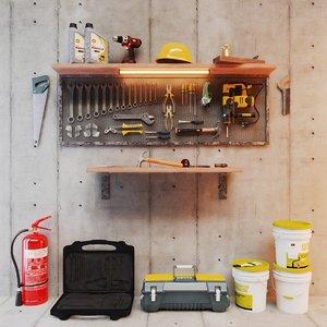 3D garage tools pack