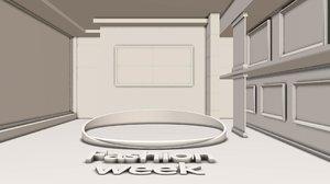 virtual set studio 3D model