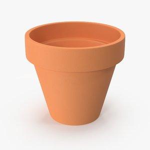3D terra cotta pot model