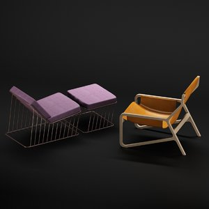 daybed patio chair 3D model