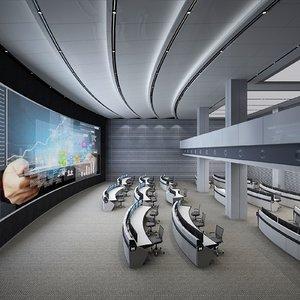 interior scene data monitoring 3D model