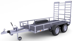 3D trailer cargo model