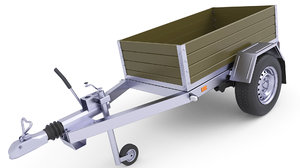 3D model trailer cargo