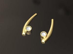 curve earrings 3D model