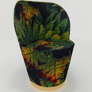 arm chair cherry leaf model