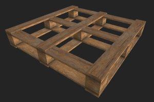 3D wood pallet crate model