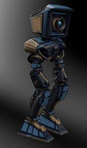 robocam character rigging robot model