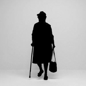 3D silhouette woman