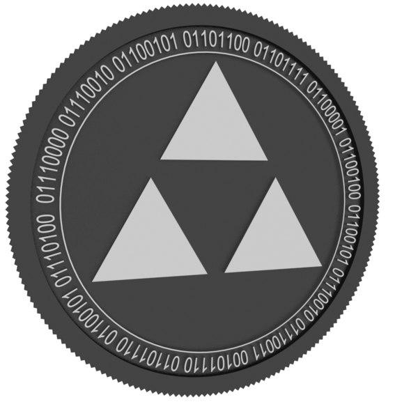 3D autonio black coin
