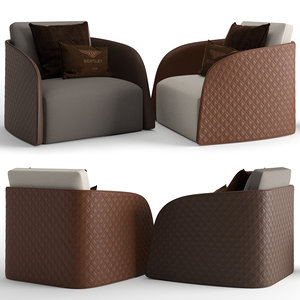3D armchair bentley home model
