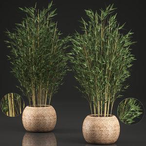 decorative bamboo basket model