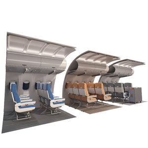 interior fuselage aircraft 3D model