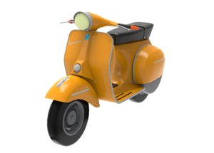 3D model classic italian piaggio vespa