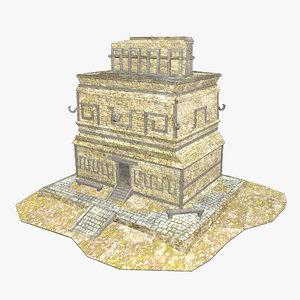 3D - mayan building model