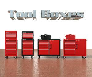 3D model set tool boxes