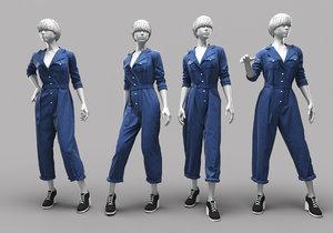 woman mannequin 15 3D model