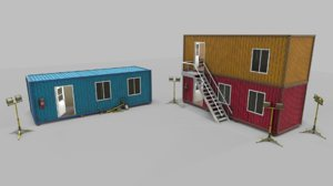 office container interior 3D
