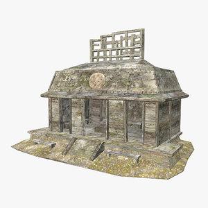 - mayan building 3D model