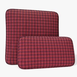 3D model cushion tartan