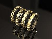 Hexagon Stackable Ring Set