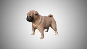 3D pug rigged