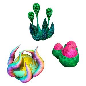 3D model plants fantastic