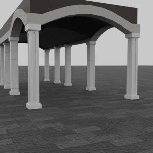 pillars columns 3D