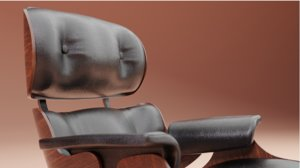 eames vitra lounge chair 3D model