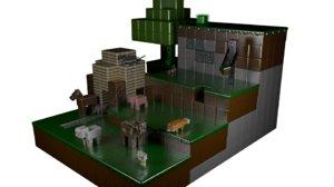 3D minecraft model