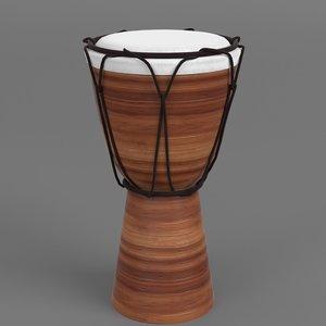 bongo drum 3D