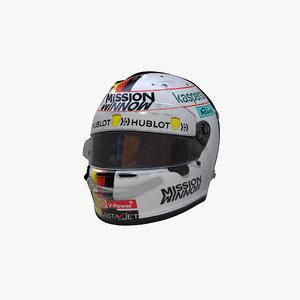3D vettel 2020 helmet model