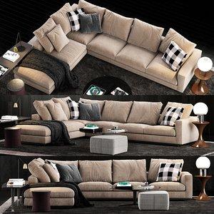 minotti andersen line sofa 3D model